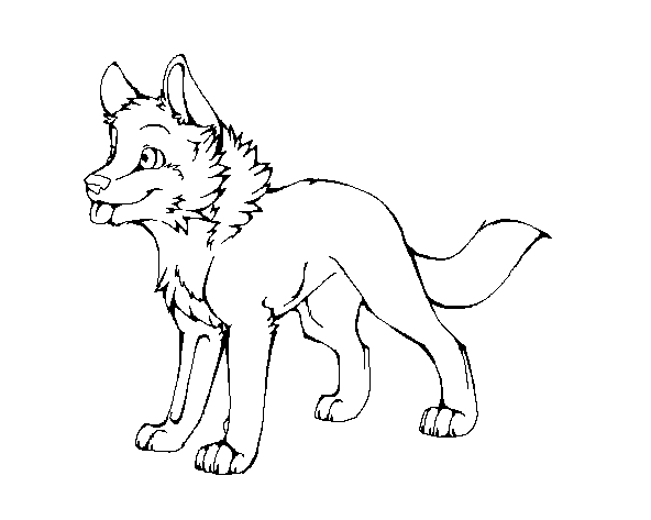 Wolf Pup Lineart by machinewolf2 on DeviantArt