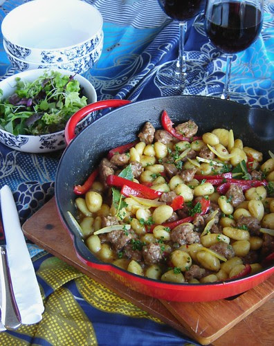 Italian Sausage with Gnocchi & Red Peppers 2