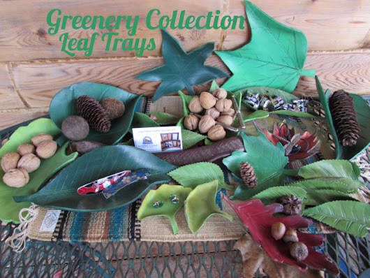 Leaf Trays from the Greenery Collection ⋆ Leather by Jan