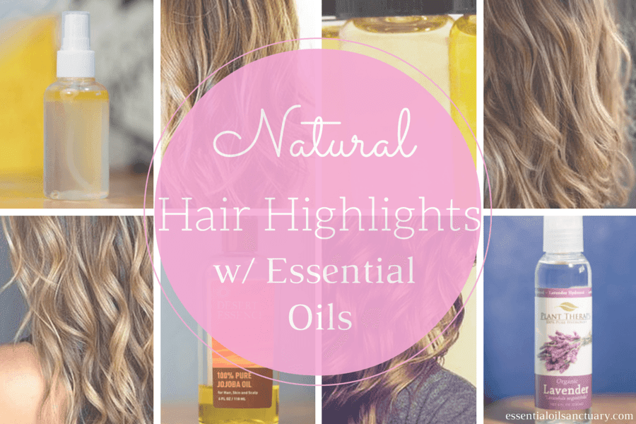 Natural Hair Highlights with Essential Oils