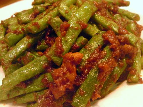 Fried four season beans with sambal belachan