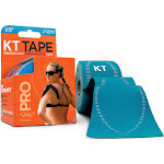 KT Tape Pro Tape, Kinesiology Therapeutic, Laser Blue, 10 Inch Precut - 20 strips