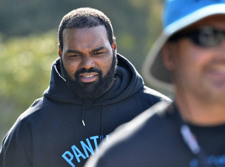 Carolina Panthers left tackle Michael Oher, injured in September, is still in the NFL's concussion protocol as of March 1, general manager Dave Gettleman confirmed.