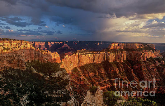 Cape Royal Sunset North Rim Grand Canyon Np Arizona by Dave Welling