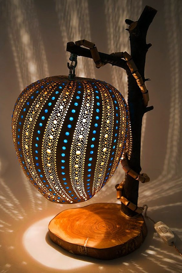Amazing Art Inspired Gourd Lamps (7)
