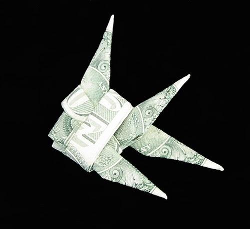 Dollar bill origami money origami fish for Easy dollar bill origami fish