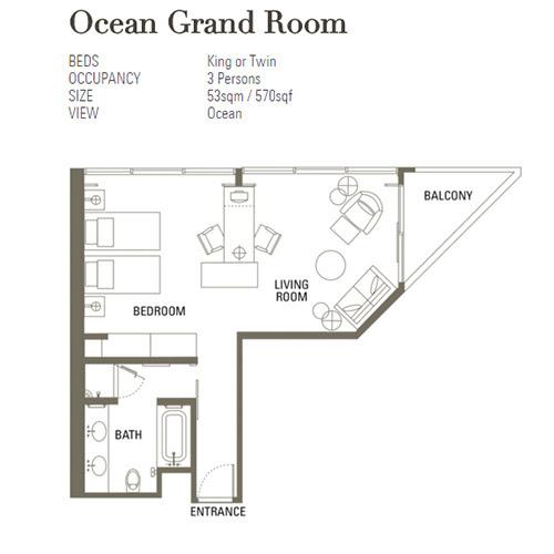 Ocean Grand Room Mandarin Oriental Singapore Layout