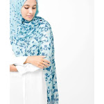 """Jersey Hijab Scarf Shawl in White Plume Color, Large 40""""x70"""" / White Plume"""