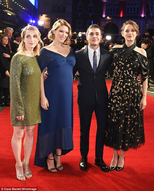 Fantastic four: Lea and Marion cuddled up toNancy Grant and Xavier Dolan on the red carpet