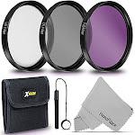 58MM Professional Lens Filter Set UV FLD CPL Filters + Filters Case + Lens Cap Holder + HeroFiber cleaning cloth