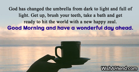 Cute Good Morning Message God Has Changed The Umbrella From