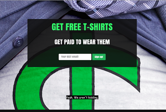 Get Paid to Wear Free T-Shirts!