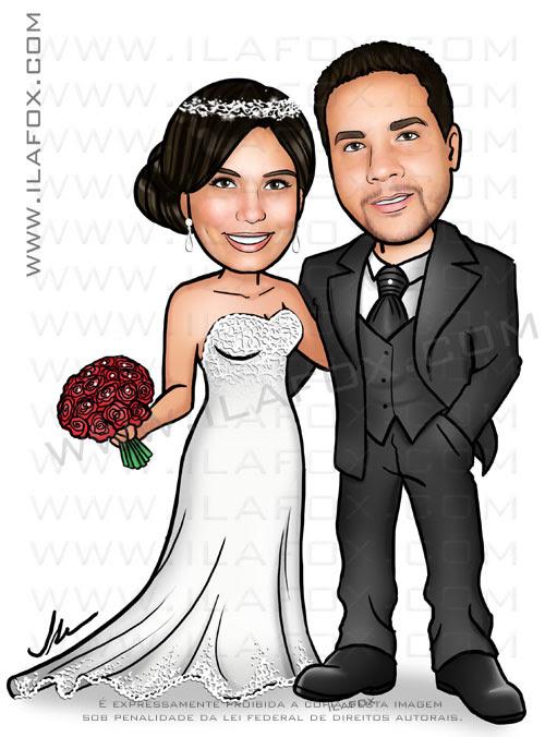 caricatura casamento, caricatura noivinhos, caricatura casal, caricatura para casamentos, caricatura para convites, by ila fox