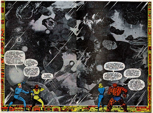 Jack Kirby photomontage from Fantastic Four #62 (May 1967)