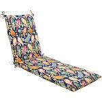 Outdoor Chaise Lounge Cushion - Blue/Orange Birds
