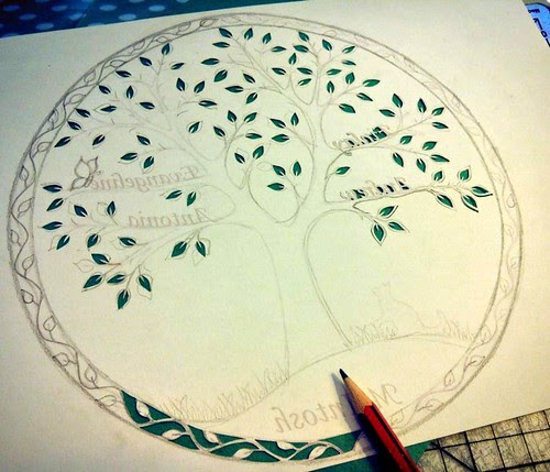 family-tree-paper-cutting-in-progress