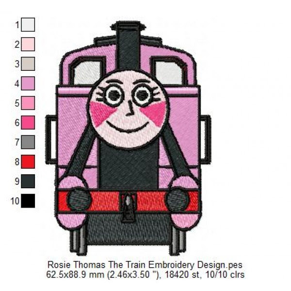 Rosie Thomas The Train Embroidery Design