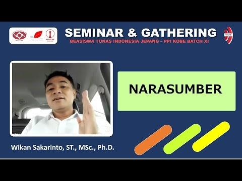 Penyampaian materi oleh pak Wikan Sakarinto, ST., MSc., Ph.D. pada Acara Gathering Beasiswa TIJ