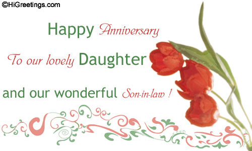 Send Ecards Family Wishes To Our Lovely Daughter And Son In Law