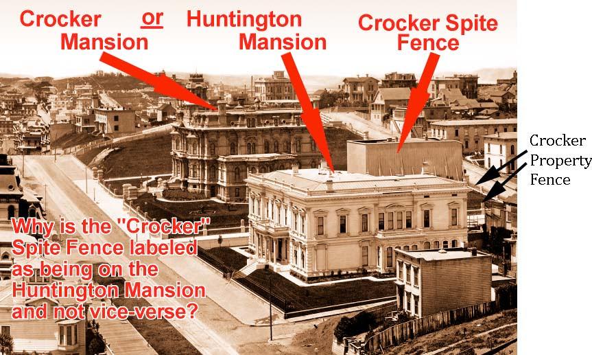 Crocker Mansion or Huntington Mansion? - Spite Fence