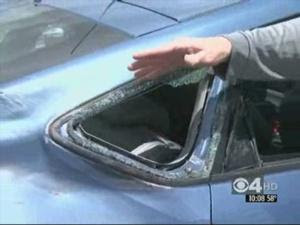 Plane Damages Car In Unusual Hit And Run