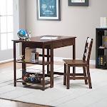LIPPER 584WN Child Desk and Chair Walnut