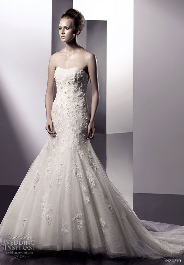 Enzoani 2010 bridal gown collection Elle wedding dress strapless scoop