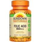 Sundown Naturals Folic Acid, 800 mcg, Tablets - 100 tablets