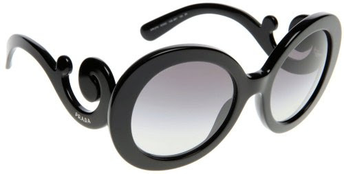 Prada 27NS 1AB3M1 Black 27NS Minimal Baroque gd FR Sunglasses Lens Category 2 | Fashion Store