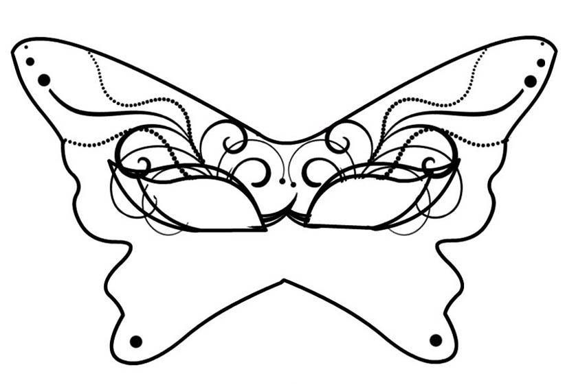 Maschera Farfalla Da Colorare Mod Bimbi Di Carta