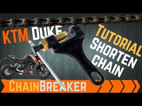 #125 �� KTM Chain shortening with chain breaker tool how to tutorial