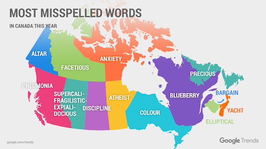 Google says these are Canada's most misspelled words