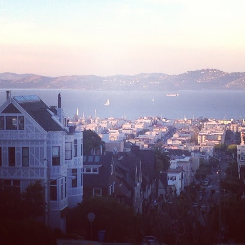 Another one of my favorite places is San Francisco. I think the picture says it all: hills, water, sailboats, nice weather. What's not to love?
