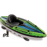 Intex Challenger K1 Kayak, 1-Person Inflatable Kayak Set with Oars and Pump by VM Express
