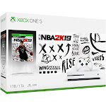 Microsoft - Xbox One S 1TB NBA 2K19 Bundle with 4K Ultra HD BLU-RAY - White