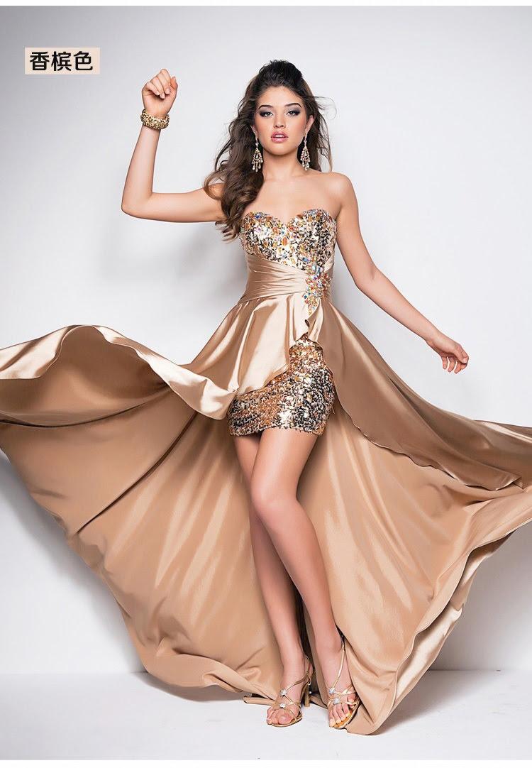 Ladies silk evening dresses