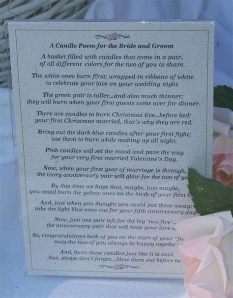 Bridal Candle Basket with Candle Poem for Bridal Shower or