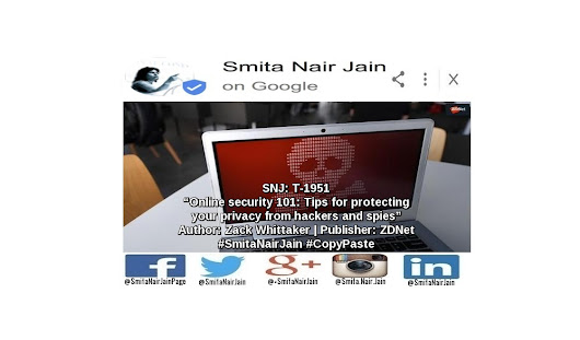 "SNJ: T-1951: ""Online security 101: Tips for protecting your privacy from hackers and spies"" 