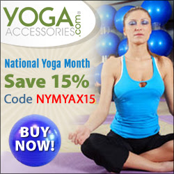 September is National Yoga Month! Save 15% off site wide during September with coupon code NYMYAX15!