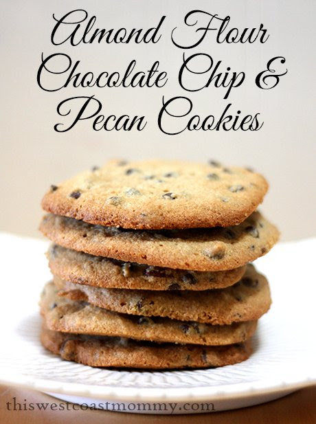 almond flour chocolate chip and pecan cookies