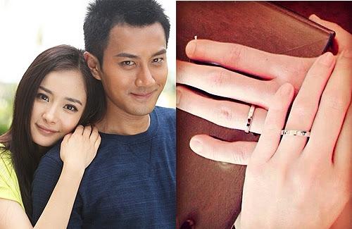 Yang Mi (楊冪) and Hawick Lau (劉愷威) married