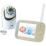 "Infant Optics - Video Baby Monitor with 3.5"" Screen - Gold/White"