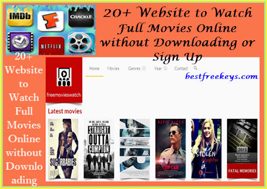 20+ Website Watch Free Full length Movies Online without Downloading Anything/Sign Up