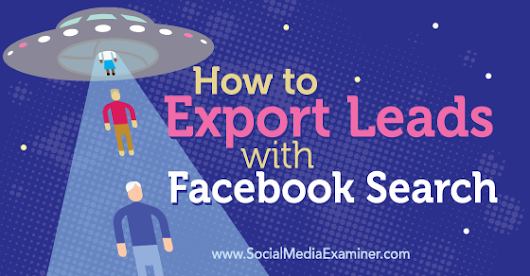 How to Export Leads With Facebook Search