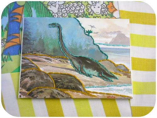 embroidered envelope