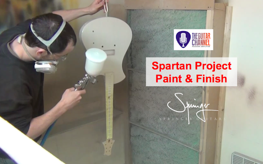 #13 Spartan Project with @SpringerGuitars: Paint & Finish - The Guitar Channel