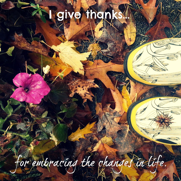 {gratitude} day 4...change