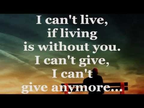 I Can T Live Without You Lyrics Gospel