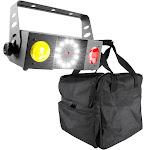 Chauvet DJ Swarm 4 FX DMX Dual LED Effect w/Strobe & Laser + DJ Transport Case by VM Express