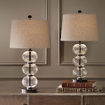 Naomi Clear Glass Sphere Table Lamp, 2-pack